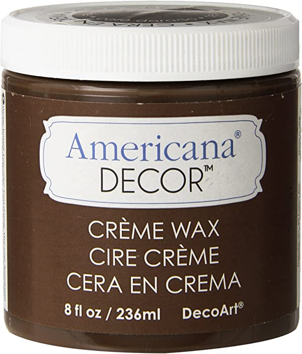 Deco Art ADM8-07-36 Americana Decor Creme Wax, 8-Ounce, Deep Brown
