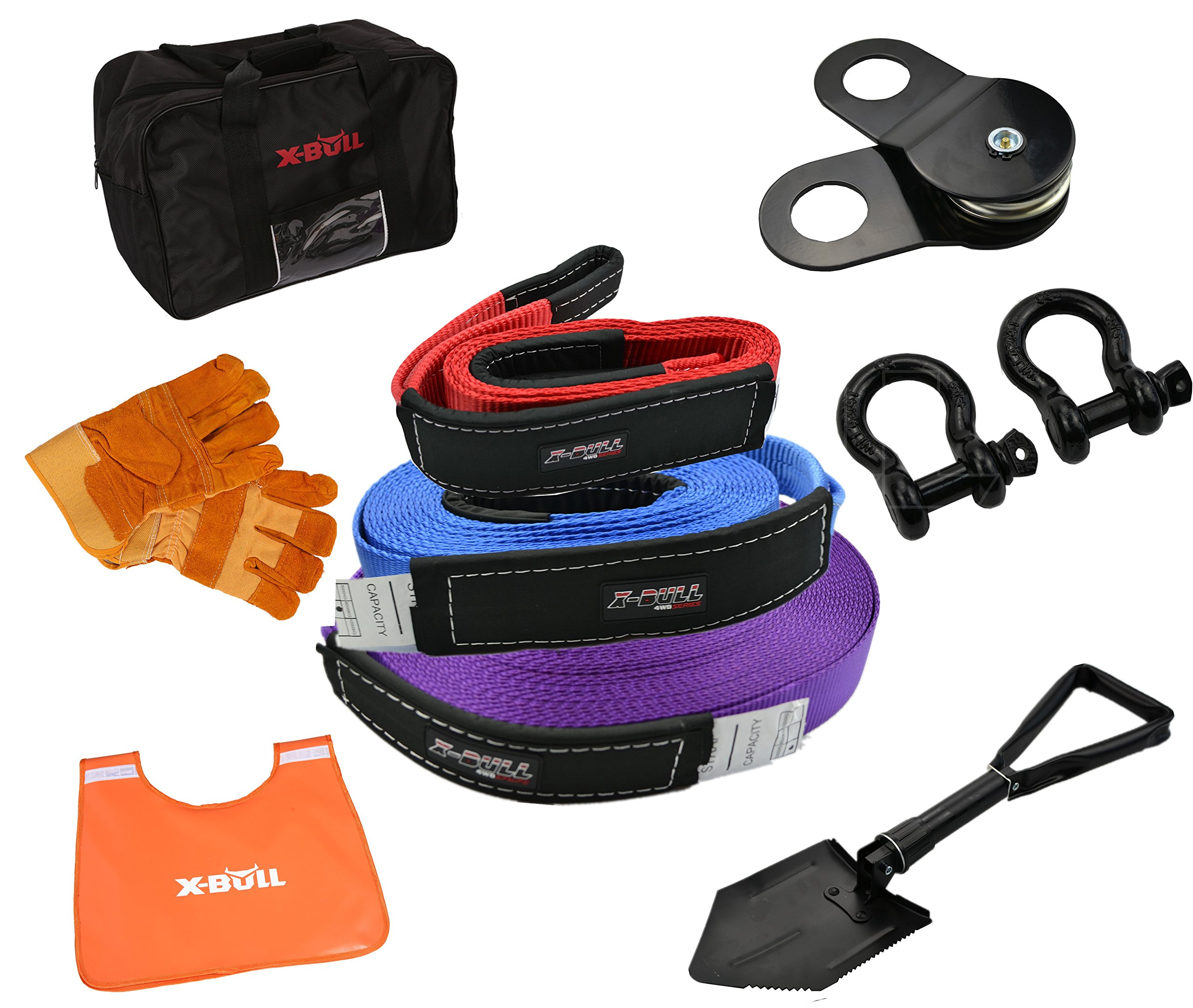 X-BULL Recovery Winch Kit Rigging kit (11PCS) by X-BULL