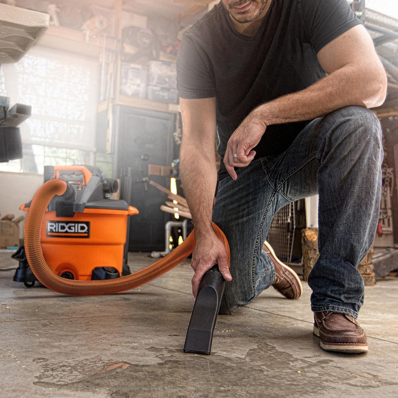 RIDGID Wet Dry Vacuums VAC1200 Heavy Duty Wet Dry Vacuum Cleaner