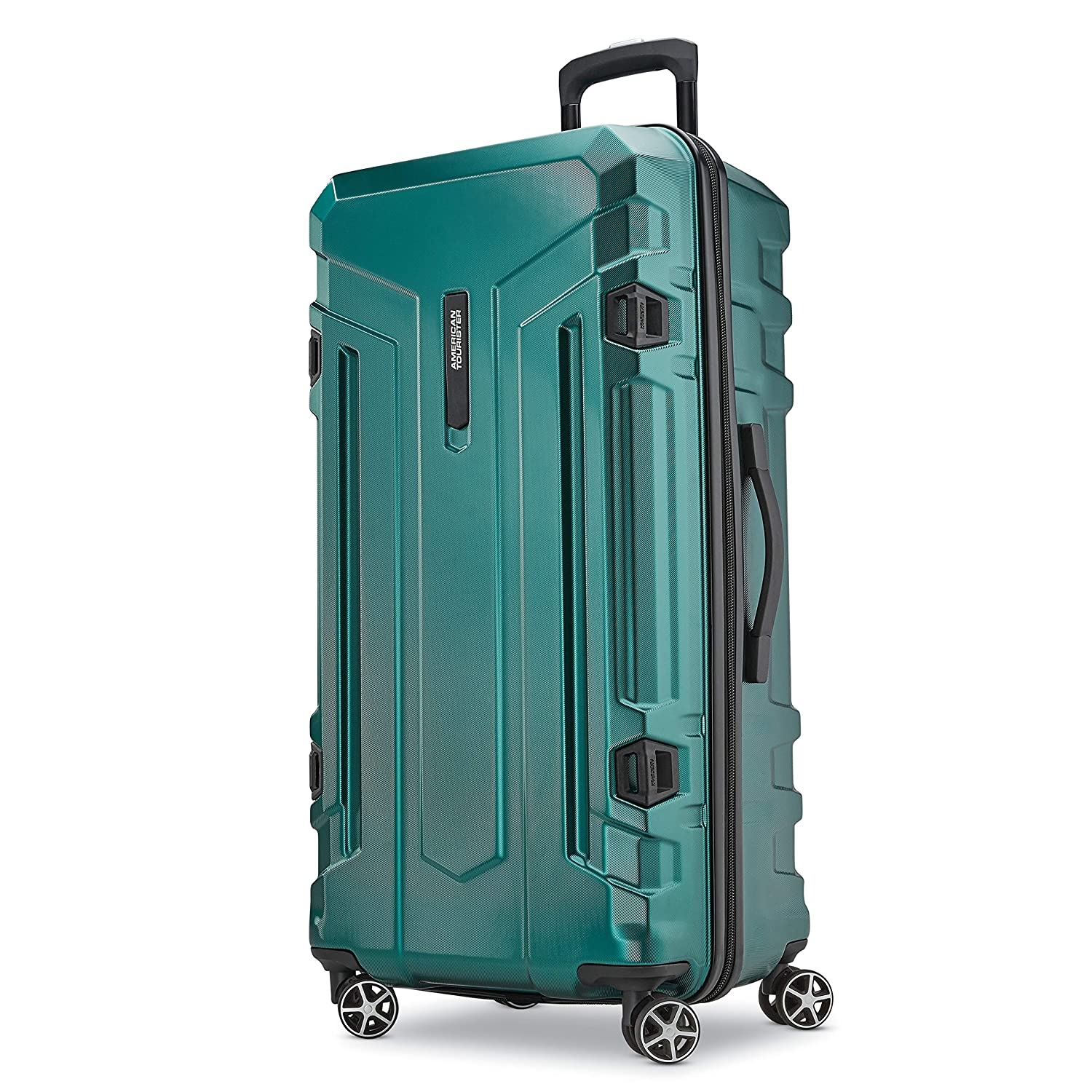 1a95bc87ffab American Tourister Trip Locker Hardside Checked Luggage with Dual Spinner  Wheels
