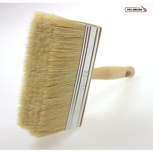 Cepillo de cerdas naturales para empapelado, pintura y vallas, Natural Bristle Hair, 50x150