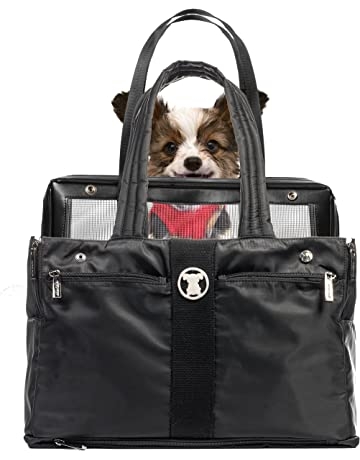 6d8247a266 ... Travel Airline Bag Black White · MISO PUP Black Timeless  Interchangeable Airline Approved Pet Carrier Combo with Pockets for Small  Dogs (