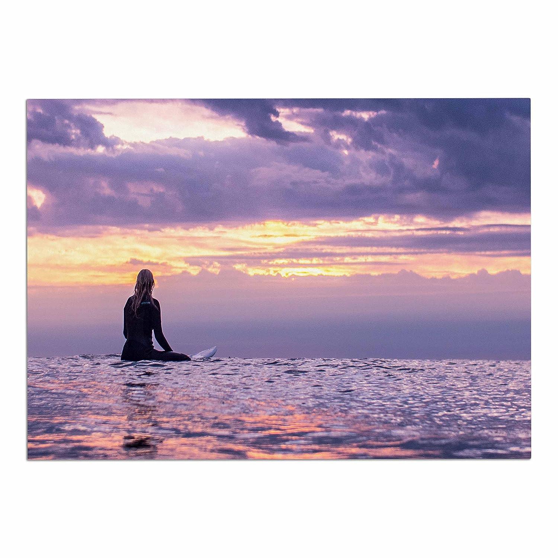 KESS InHouse CP4003ADM02 Colin Pierce Soul Search Purple orange Photography Dog Place Mat, 24  x 15