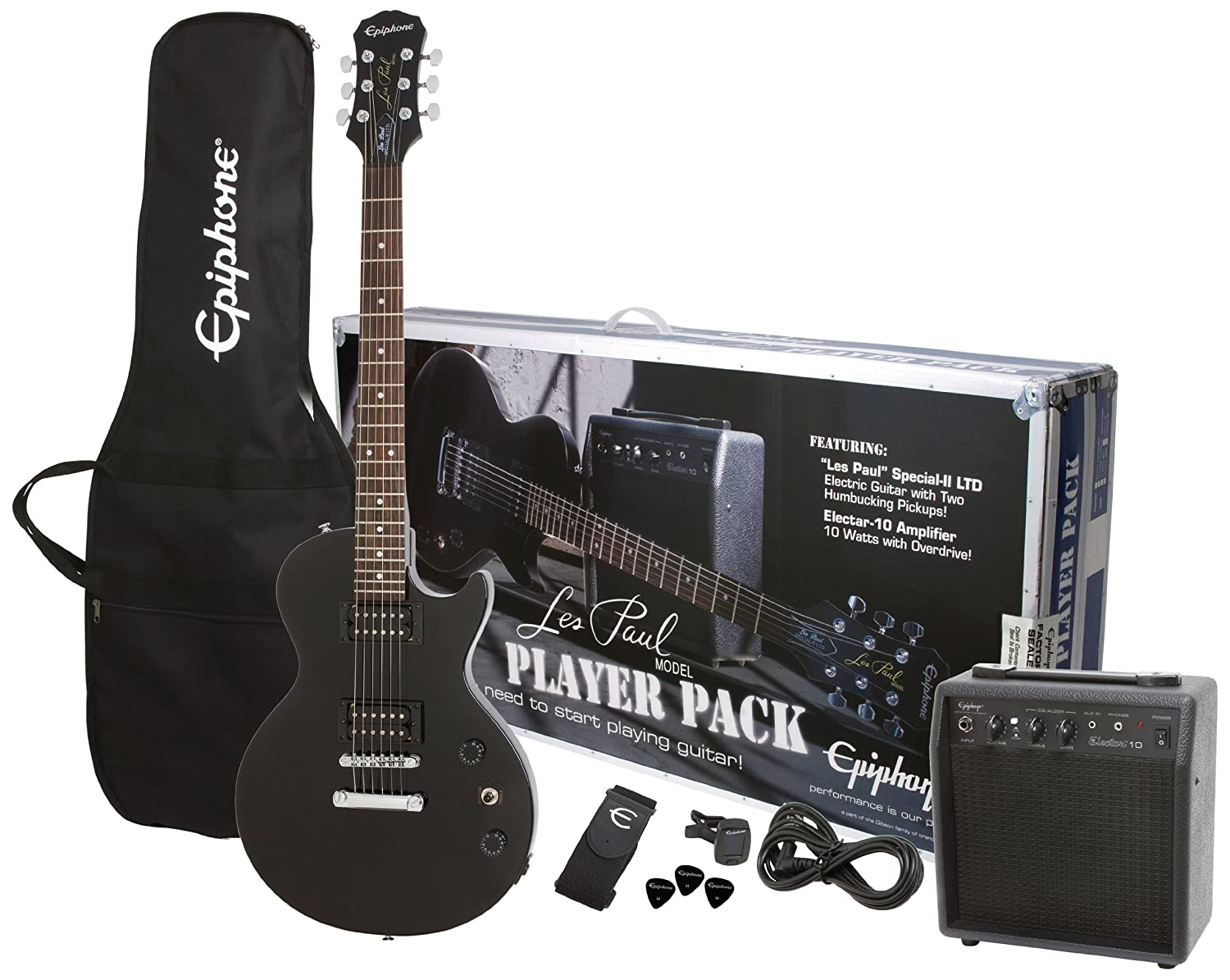 Best Beginner Electric Guitar Packages Epiphone Les Paul Electric Guitar Player Package