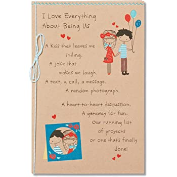 Amazon american greetings crazy life birthday card for husband american greetings being us birthday card for sweetheart with foil m4hsunfo
