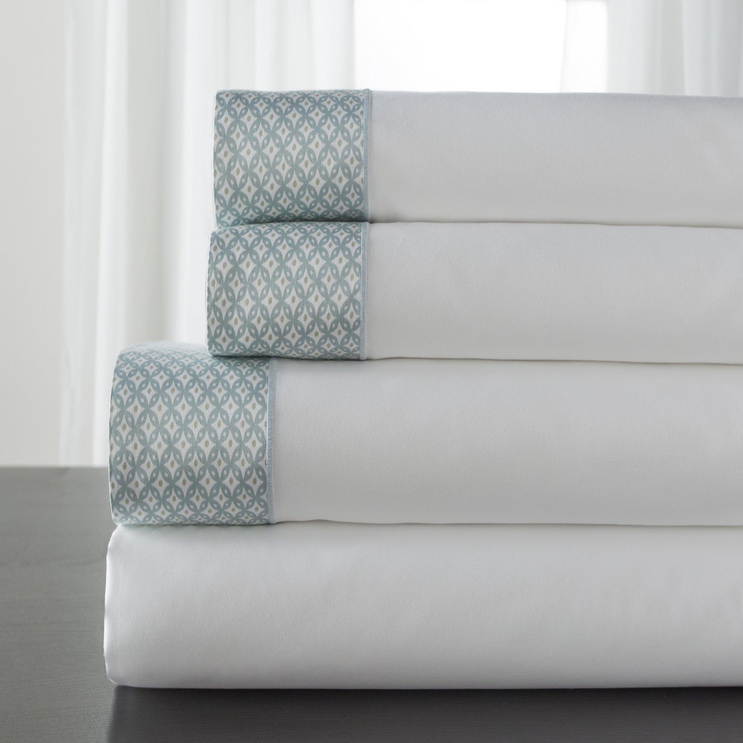 Elite Home Products Adara 400-Thread Count Sheet Set Spa California King Sheet Set