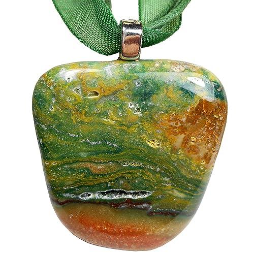 Jasper pendants landscape jasper points 2 pcs stone points