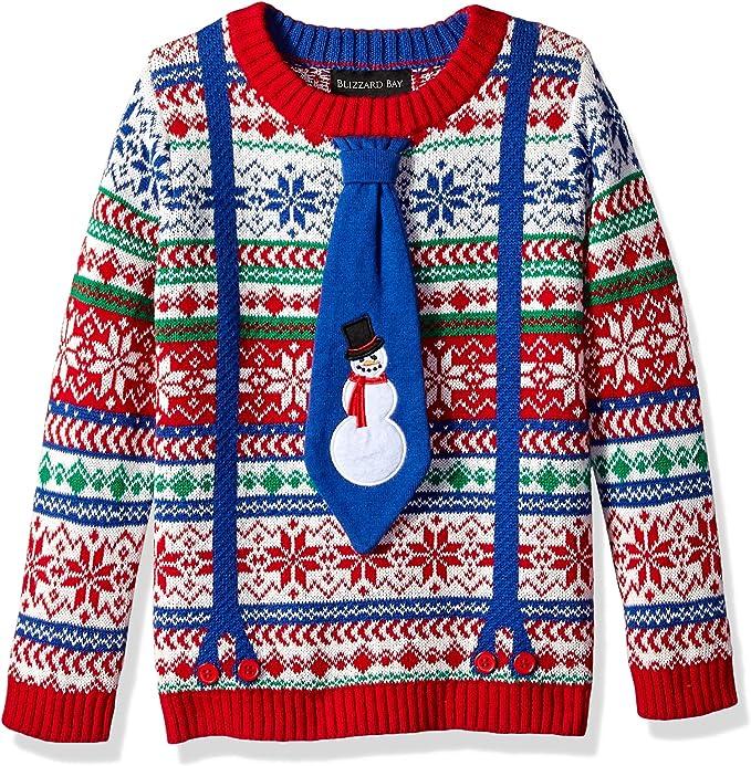 Blizzard Bay Boys Ugly Christmas Sweater Snowman
