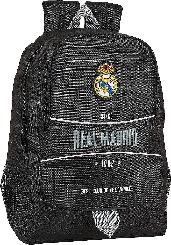 Mochila Safta Escolar de Real Madrid, 320x160x440mm, Multicolor