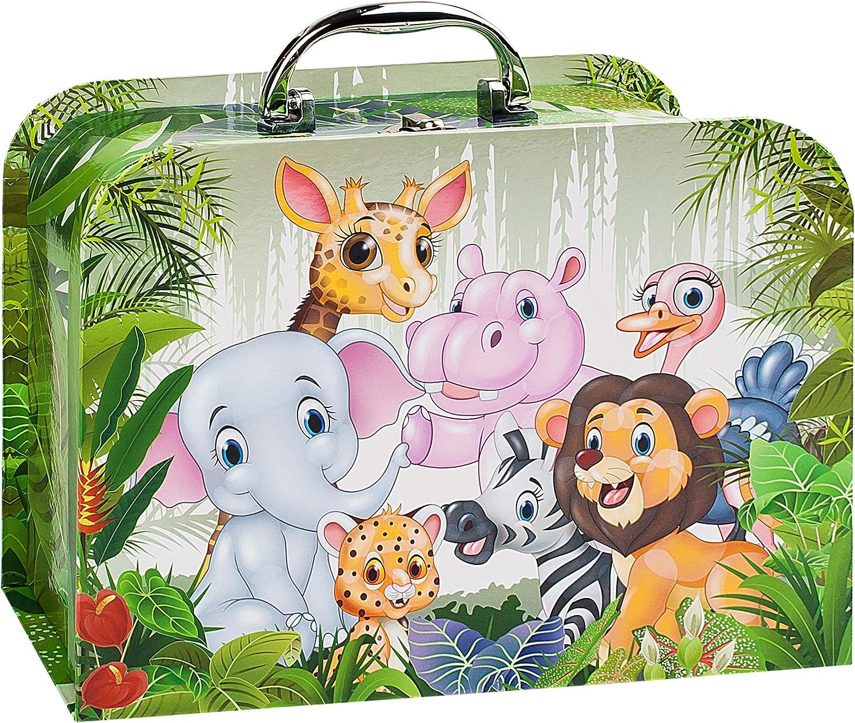 in 2 verschiedenen GR/Ö/ßen lustige Dschungel /& Zoo Tiere .. f/ür Spielzeug und als Geldgeschenk Kofferset Set /_ Kinderkoffer // Koffer // Kofferset alles-meine.de GmbH 2 TLG