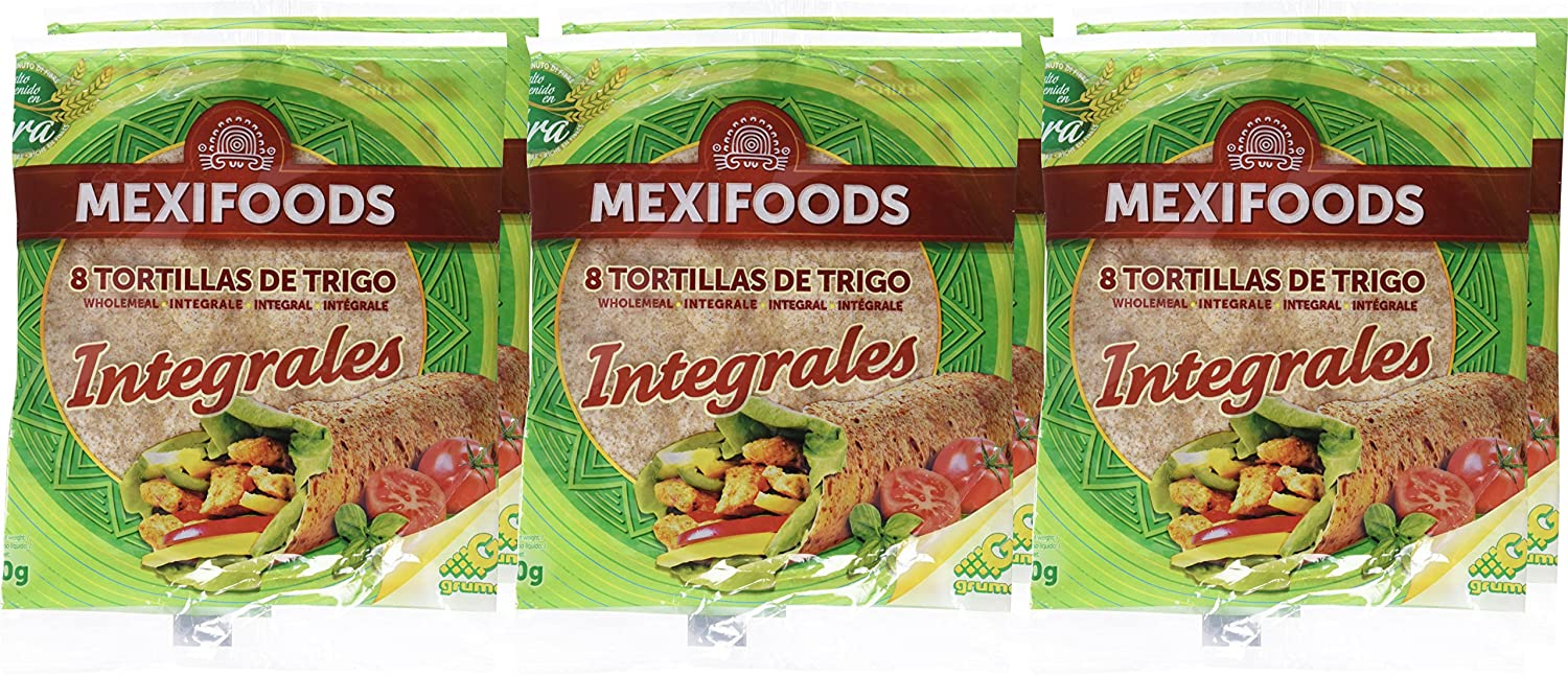 Mexifoods Tortilla Integral - 6 Paquetes de 320 gr - Total ...