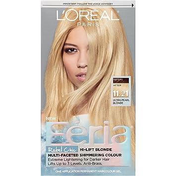 Amazon.com : L\'Oréal Paris Feria Permanent Hair Color, 11.21 Bad to ...