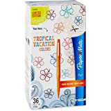Paper Mate Flair Felt Tip Pens, Medium Point, Limited Edition Tropical & Assorted Colors, 36-Count