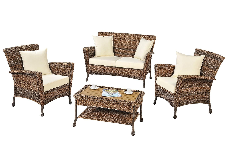 Amazon com w unlimited tropical 4 piece conversation set garden outdoor