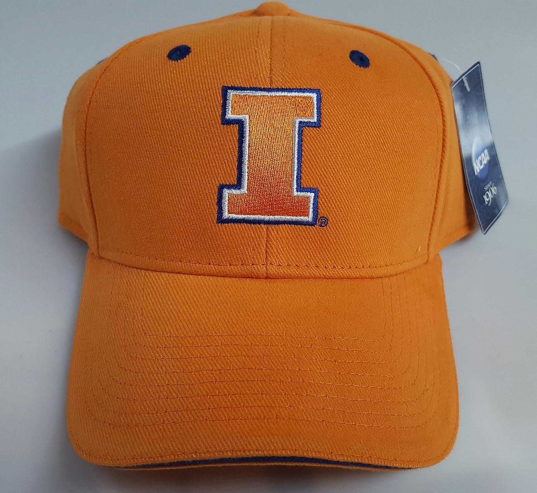 NCAAスポーツ新しい。イリノイfightimg Illiniバック調節可能な刺繍キャップ B07D1W15ND