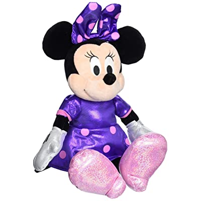 Ty Beanie Buddies Minnie Purple Sparkle Medium Plush: Toys & Games