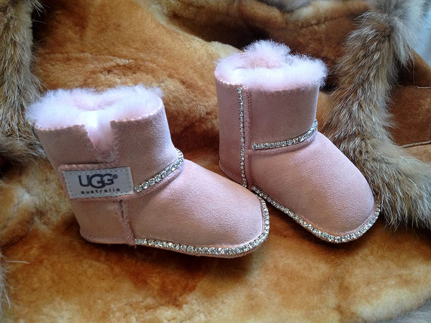 12 MonthsPink Couture Icy Uggs Blingsm6 Boots Baby With vwNnOym80