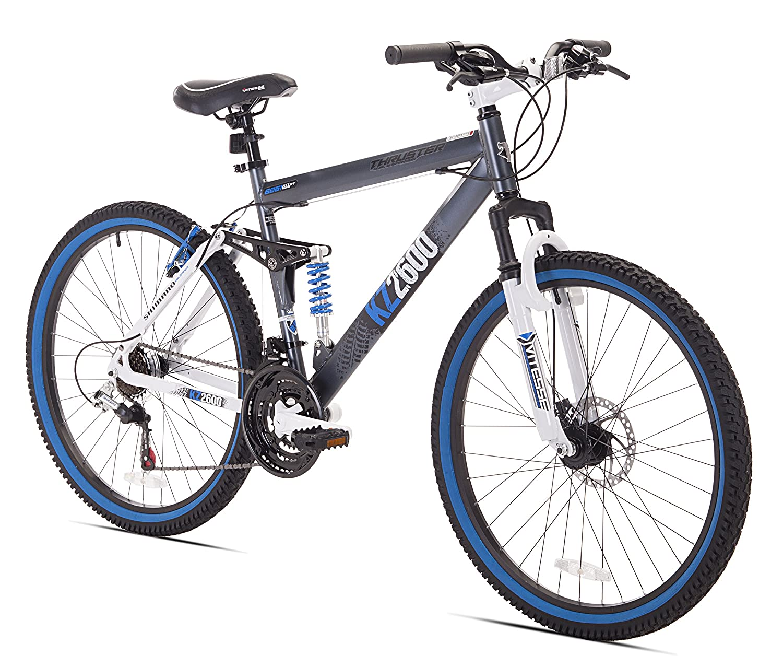 "26/"" Full Wheel Mountain Bike Bicycle 21 Speeds Front Suspension Disc Brakes"