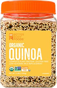 BetterBody Foods & Nutrition Organic Quinoa, 3 Lb