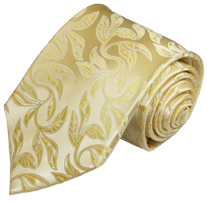 Krawatte von Paul Malone creme gold florale Hochzeitskrawatte Bräutigam Tie v15