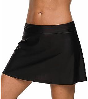 27cc98519cb6f beautyin Women's Solid Swim Skirt Build-in Brief Tummy Control Tankini  Bottoms