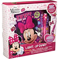 Berry Hip Diario Light Up de Minnie con Candado y Pluma con Linterna