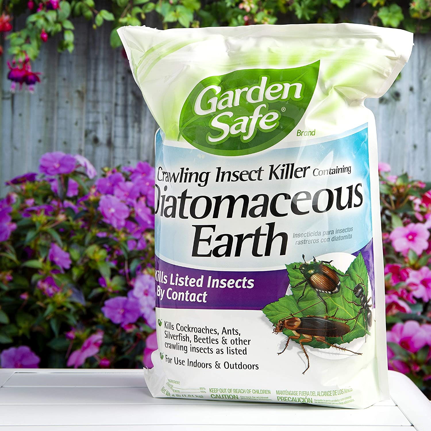 Amazon.com : Garden Safe Brand Crawling Insect Killer Containing  Diatomaceous Earth, 4-Pound : Insect Repellents : Garden & Outdoor