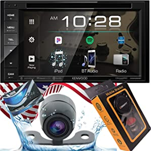 """Kenwood DDX26BT Double DIN SiriusXM Ready Bluetooth in-Dash DVD/CD/AM/FM Car Stereo Receiver w/ 6.2"""" Touchscreen + XV20C Backup Camera + Gravity Magnet Phone Holder"""