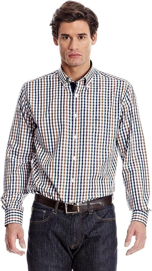 Milano Camisa Hombre Franck Azul Marino 39 cm (15.5