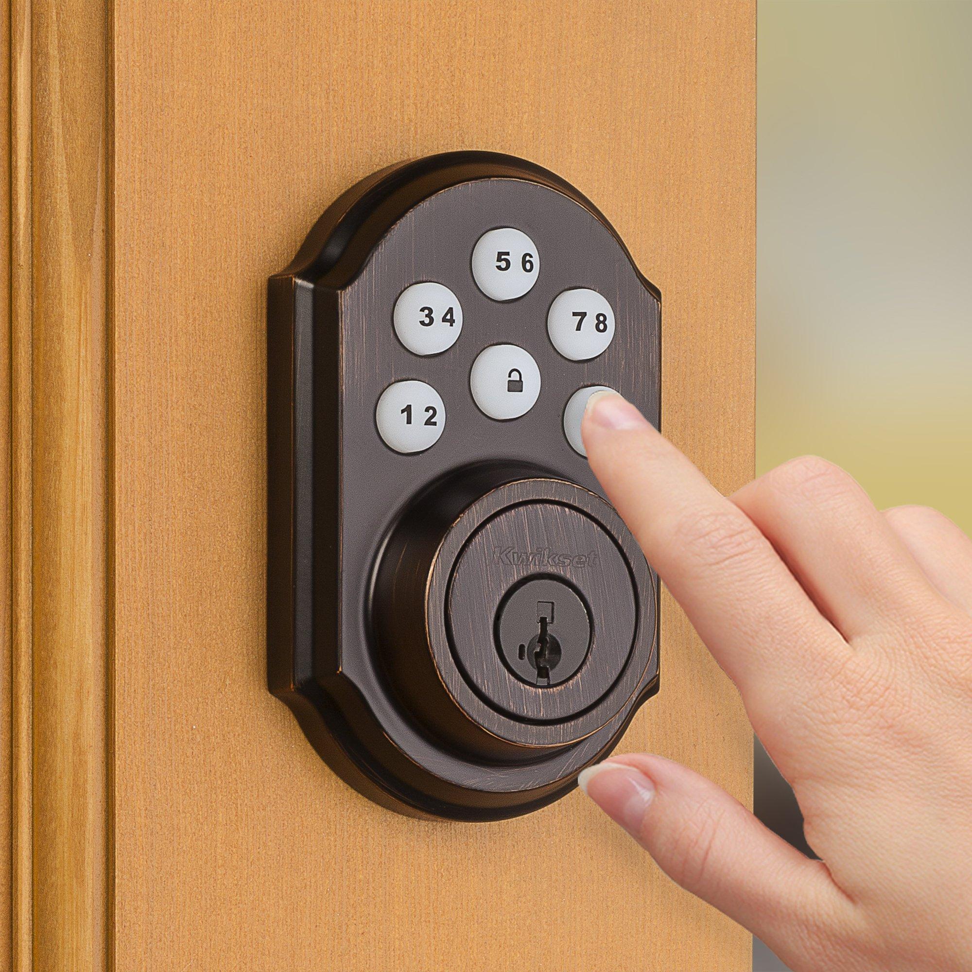 Kwikset 99100-045 SmartCode ZigBee Touchpad Smart Lock works with Echo Plus & Alexa, featuring SmartKey, Venetian Bronze by Kwikset (Image #4)