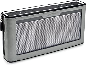 Bose SoundLink III Bluetooth Speaker with Soft Cover Bundle (Gray)