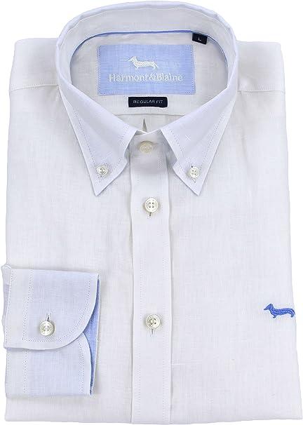 HARMONT /& BLAINE uomo camicia pochette bianco C00468 B 006912 100