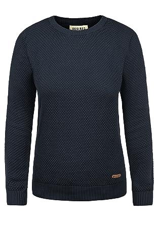 6a1968eb14c6 DESIRES Sarah Damen Strickpullover Feinstrick Pullover Mit Rundhals Und  Waffelstrick-Muster, Größe XS