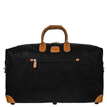 eb372bf57d4f Bric's Life 22 Inch Cargo Overnight Duffle Bag Weekend Duffel, Black