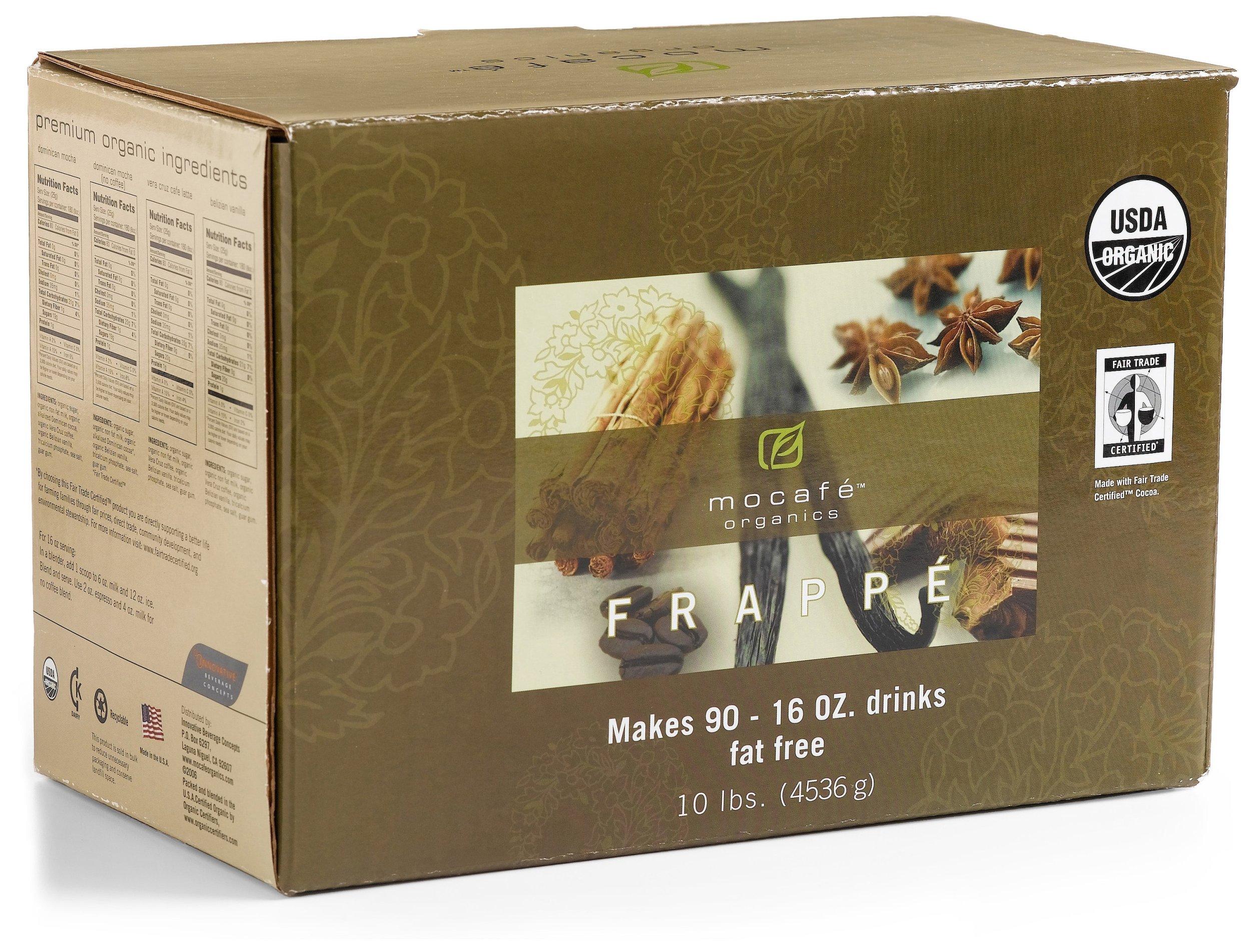 MOCAFE Organics Belizian Vanilla Latte Frappe, 10-Pound Box