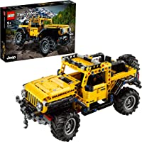 LEGO 42122 Technic Jeep Wrangler 4x4 Toy Car, Off Roader SUV Model Building Set
