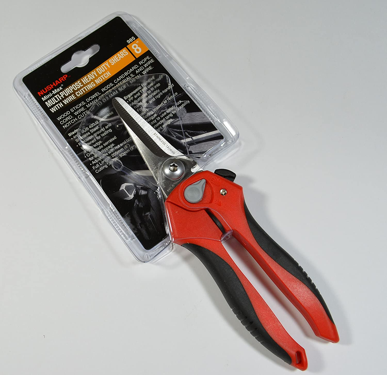 Nusharp 985 Mini Max 8 Multi Purpose Heavy Duty Shears With Wire Minimax Wiring Diagram Cutting Notch Amazoncom