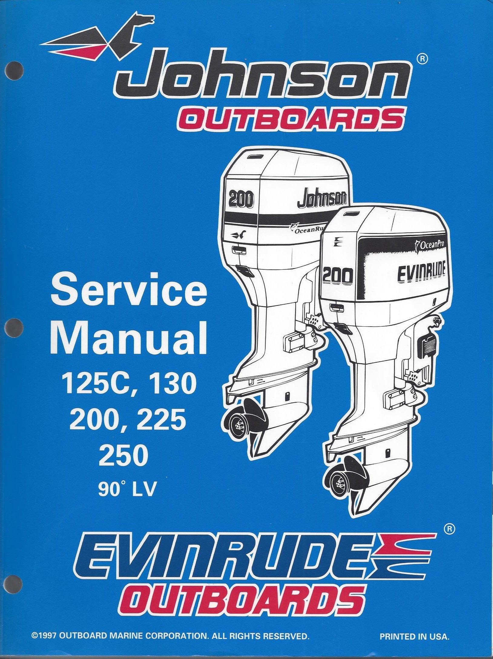 "Johnson Evinrude Outboards ""EC"" 90* LV Service Manual 125C, 130, 200, 225,  250 P/N 520212: Amazon.com: Books"