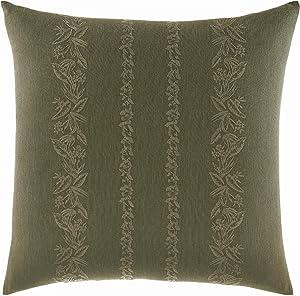 Tommy Bahama Nador Throw Pillow, 18 x 18, Dark Green