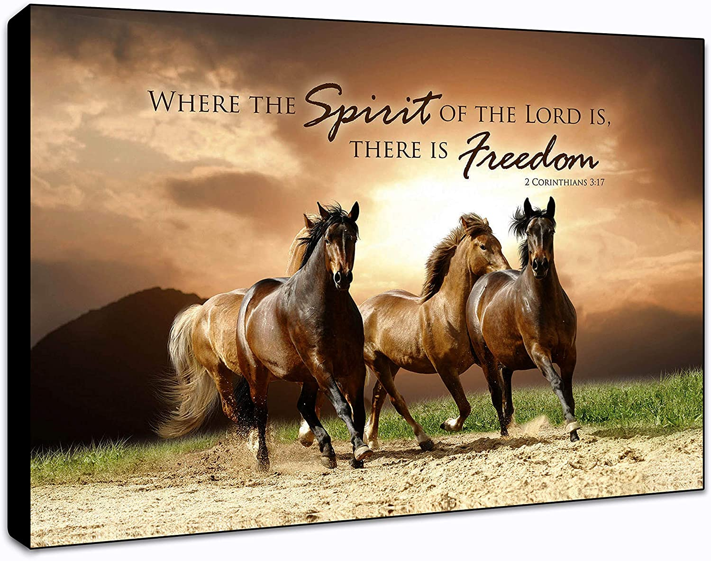 "LACOFFIO Spirit of The Lord Corinthians 3:17 Wall Art Décor Plaque 9""x 6"