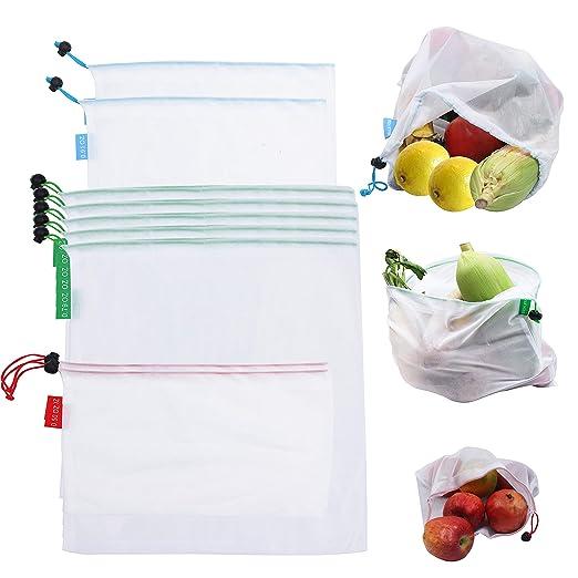 Bolsas Compra Reutilizables (Pack de 9) - (2L+5M+2S) Bolsa ...