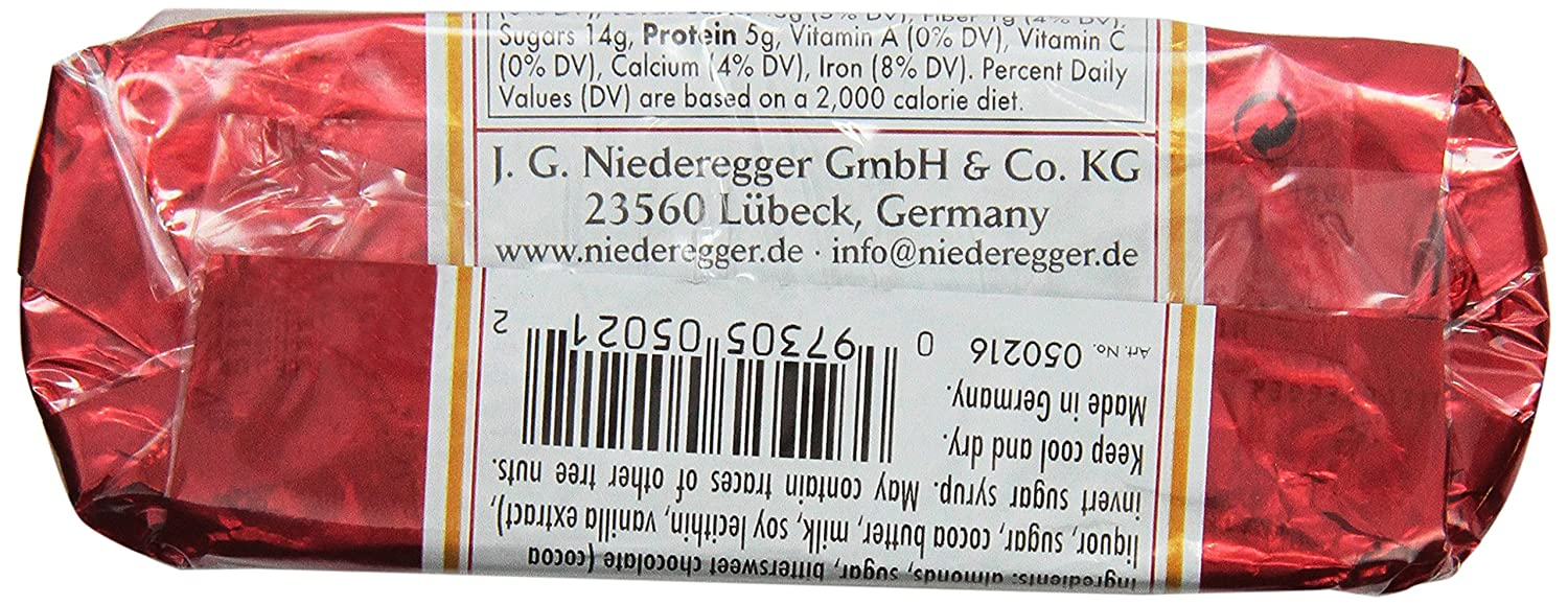 Niederegger Chocolate Covered Marzipan Loaf, 2 6-Ounce (Pack of 5)