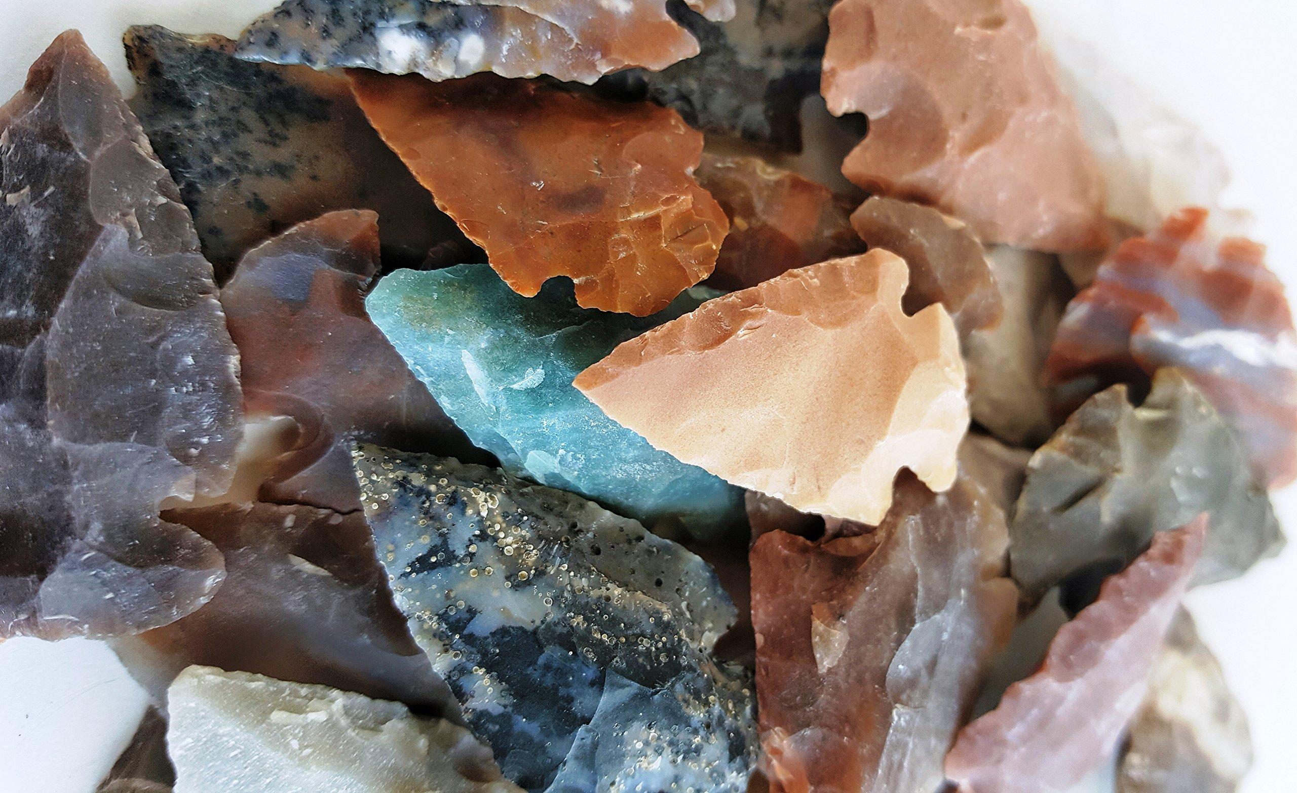 Arrowhead Lot, 32 pcs Indian Agate Stone Arrowhead Set by Ashkii by Arrowheads by Ashkii (Image #3)