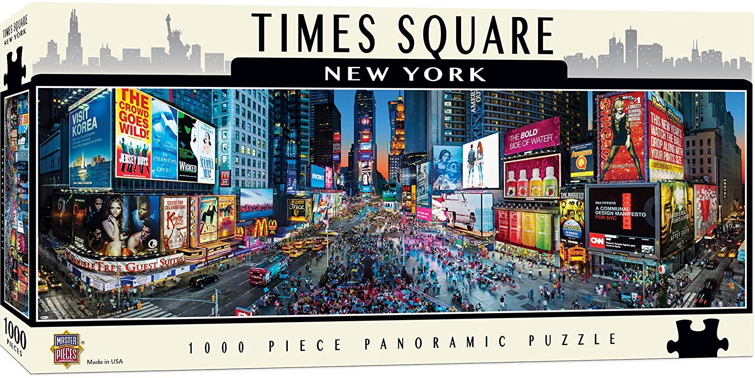 MasterPieces Cityscape - Times Square 1000pc Panoramic Puzzle Master Pieces 71588