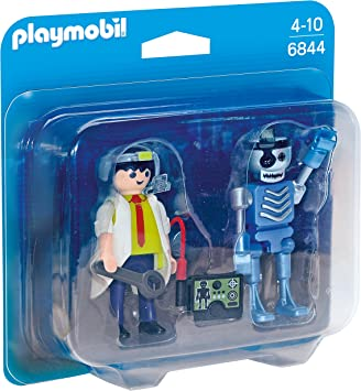 PLAYMOBIL Duo Pack- Scientist with Robot Duo Pack Figura con ...