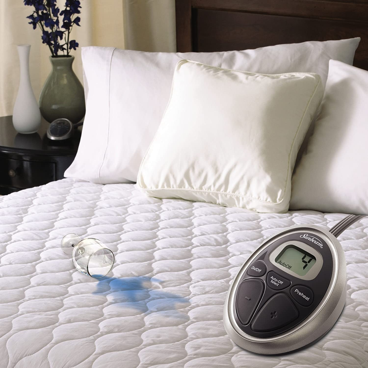 Sunbeam Heated Mattress Pad | Water-Resistant, 10 Heat Settings