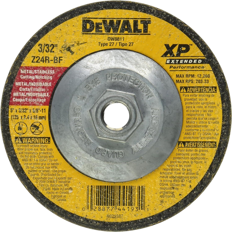 DEWALT DW8805 4-1//2-Inch by 3//32-Inch by 5//8-Inch-11 XP Cutting and Notching Wheel