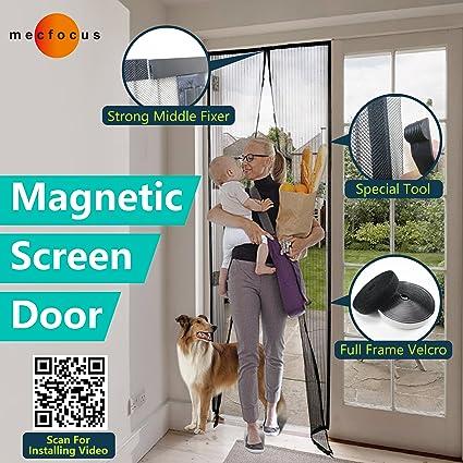 Superior Mecfocus NEW Magnetic Screen Door 43.3x94.5u0026quot; MAX, Width And Length