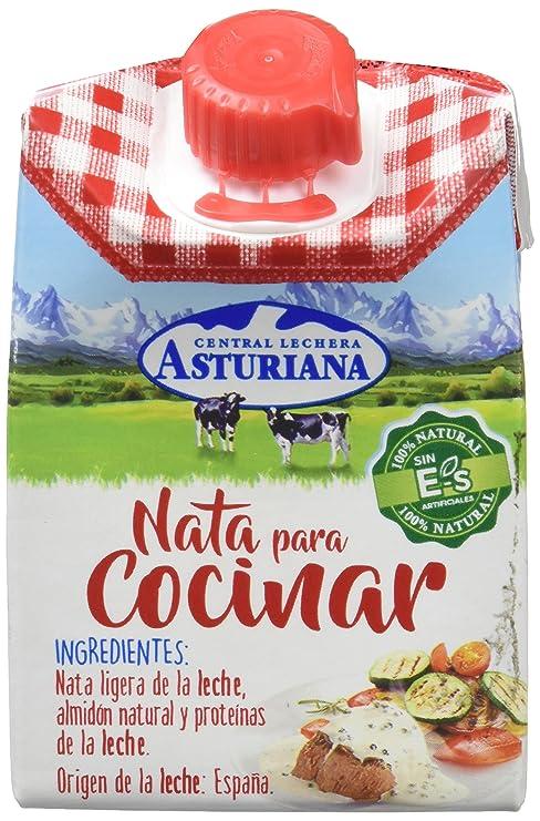 Central Lechera Asturiana - Nata Liquida UHT Ligera, Especial Cocina - 200 ml