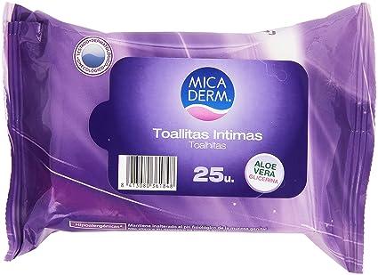 Mica Derm - Toallitas Intimas - Aloe Vera Glicerina - 25 unidades